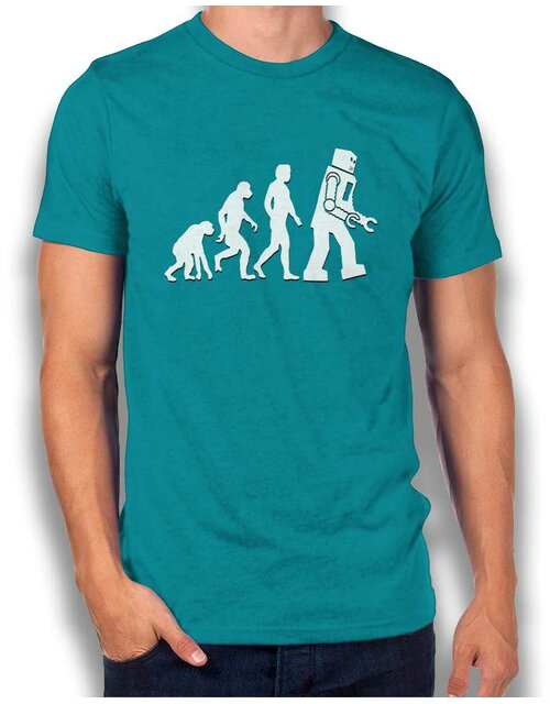 Robot Evolution Big Bang Theory T-Shirt tuerkis L