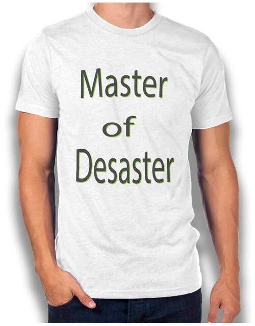 Master Of Desaster T-Shirt weiss L