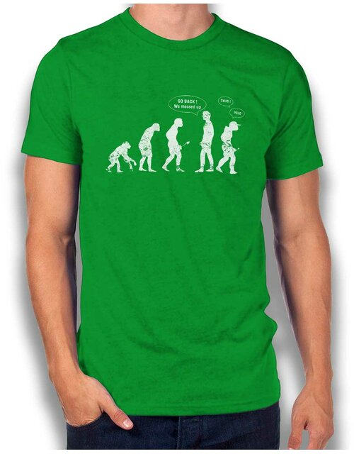 Go Back We Messed Up Yolo Swag Vintage T-Shirt green L