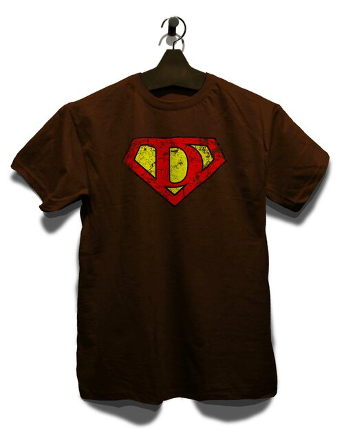 ... D Buchstabe Logo Vintage T-Shirt brown L