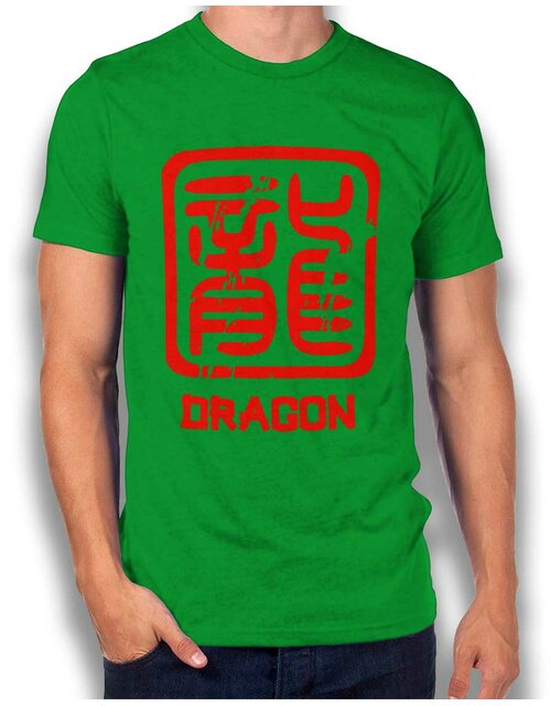 Chinese Signs Dragon T-Shirt gruen L