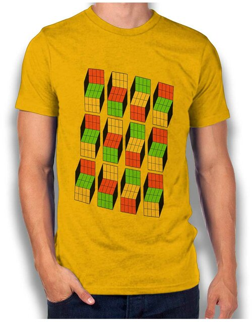 Big Bang Theory Rubiks Cube T-Shirt gelb L