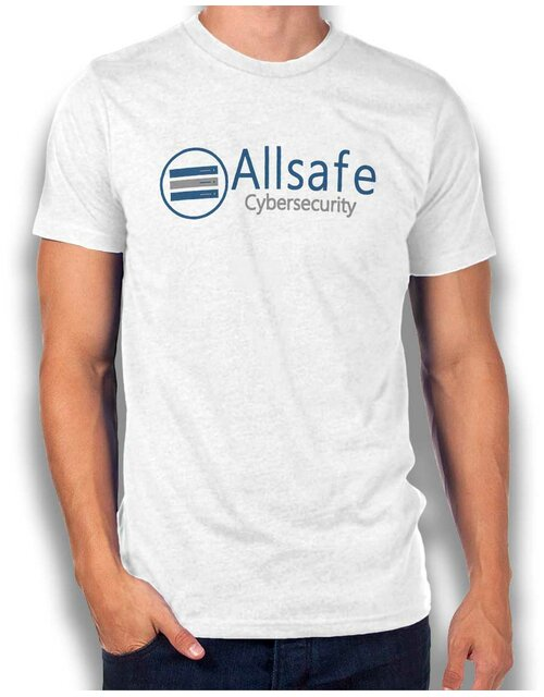 Allsafe Cybersecurity T-Shirt weiss L