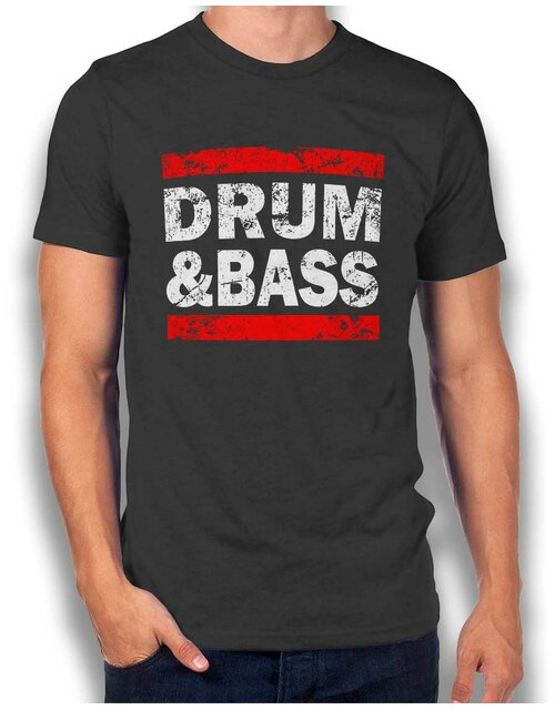 Drum N Bass T-Shirt dunkelgrau L