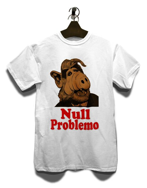 Alf Null Problemo T-Shirt weiss L