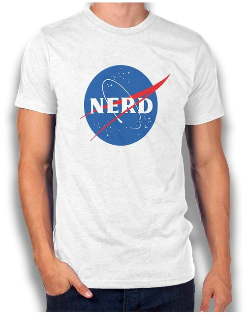 Nerd Nasa T-Shirt white L