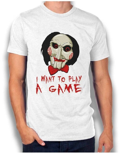 Jigsaw I Want To Play T-Shirt weiss L