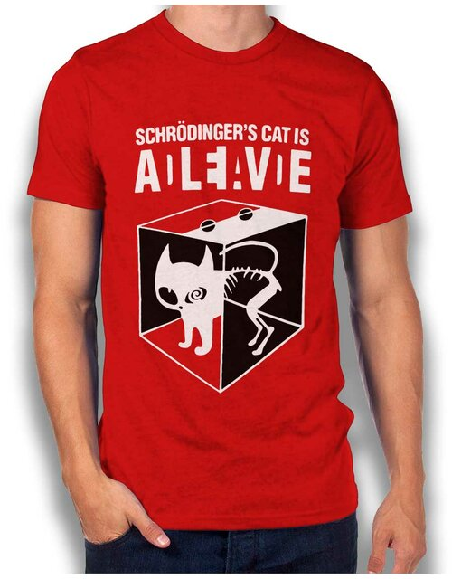 Schroedingers Cat T-Shirt red L