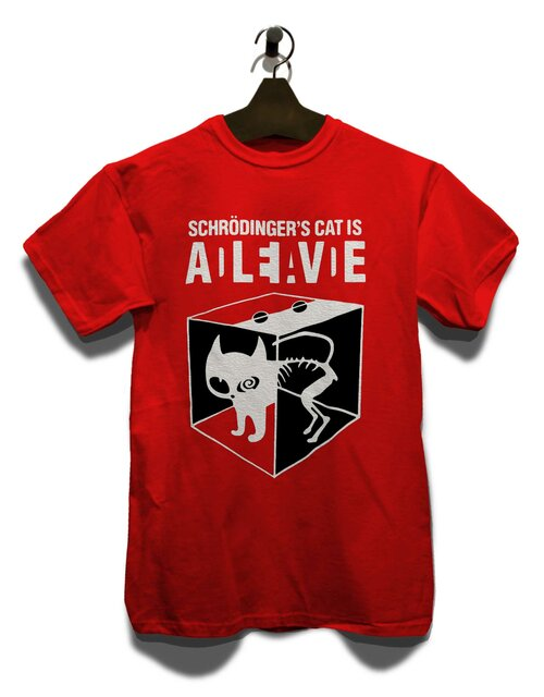 Schroedingers Cat T-Shirt rot L
