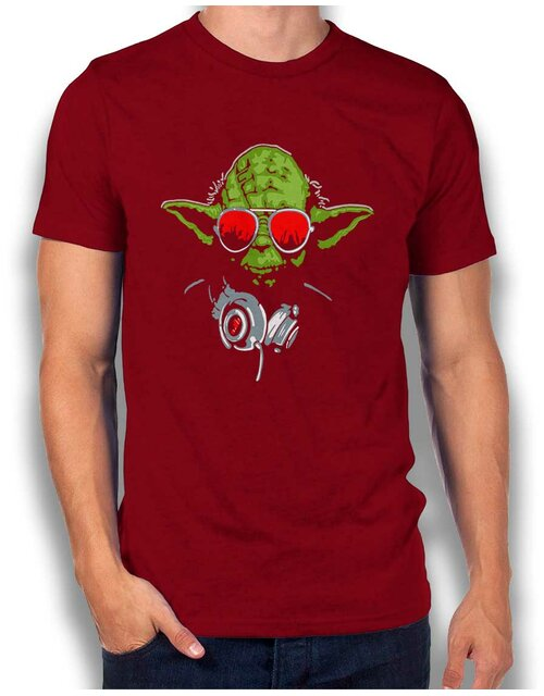 Yoda Dj T-Shirt bordeaux L