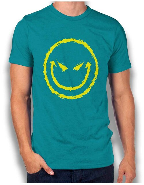 Evil Smiley T-Shirt turquoise L