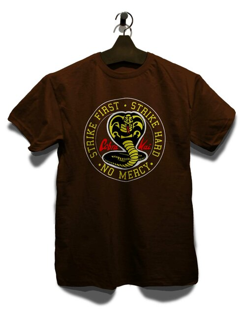 Cobra Kai Logo T-Shirt brown L
