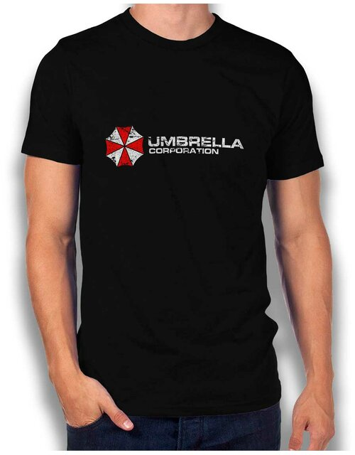Umbrella Corporation Vintage T-Shirt schwarz L
