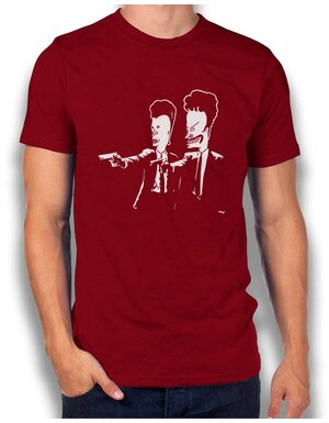 Beavis And Butthead Pulp Fiction T-Shirt bordeaux L