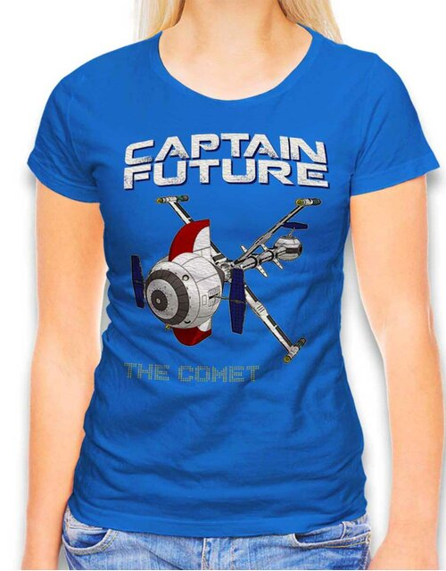 Captain Future The Comet Damen T-Shirt royal L