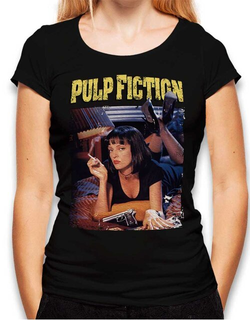 Pulp Fiction Vintage Damen T-Shirt schwarz L