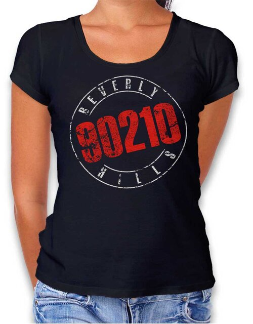 Beverly Hills 90210 Vintage Womens T-Shirt black L