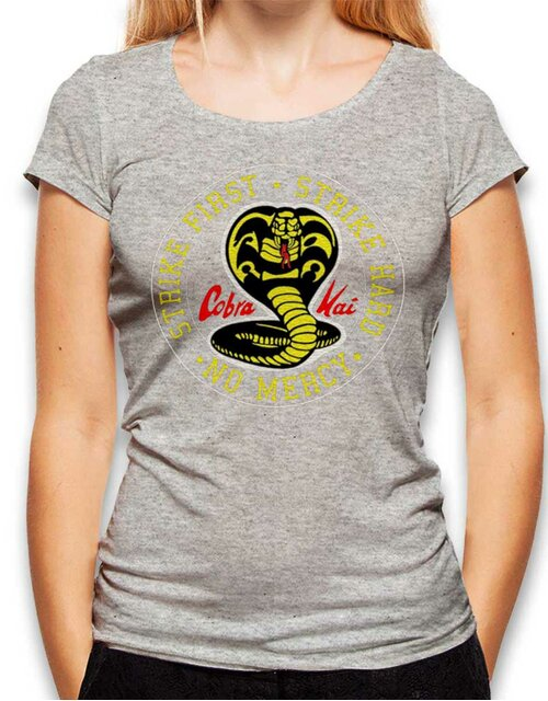 Cobra Kai Logo Womens T-Shirt heather-grey L