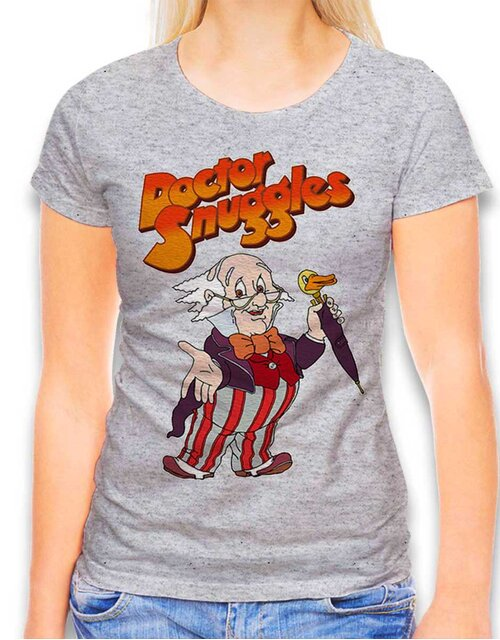 Doctor Snuggles Womens T-Shirt heather-grey L