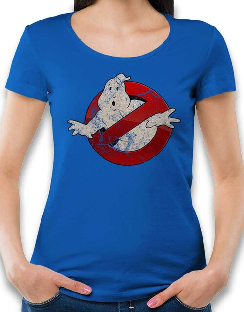 Ghostbusters Vintage Womens T-Shirt royal-blue L
