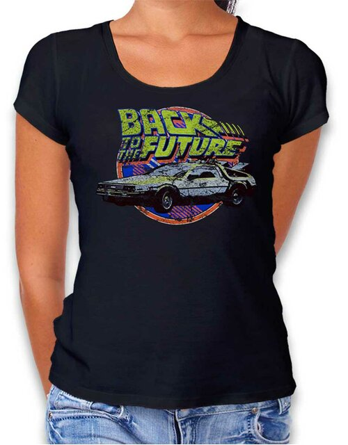 Back To The Future Damen T-Shirt schwarz L