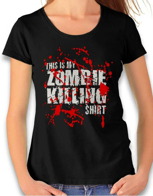 This Is My Zombie Killing Shirt Damen T-Shirt schwarz L