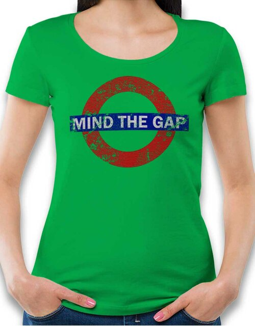 Mind The Gap Vintage Womens T-Shirt green L