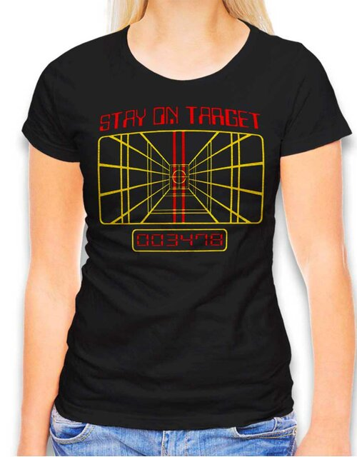 Stay On Target Damen T-Shirt schwarz L