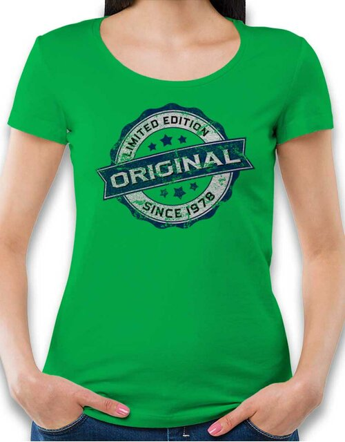 Original Since 1978 Damen T-Shirt gruen L