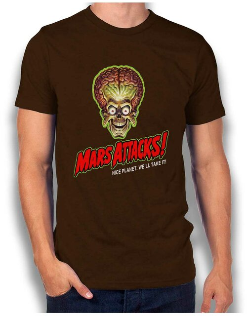 Mars Attacks T-Shirt brown L