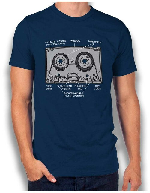 Mixtape T-Shirt navy L