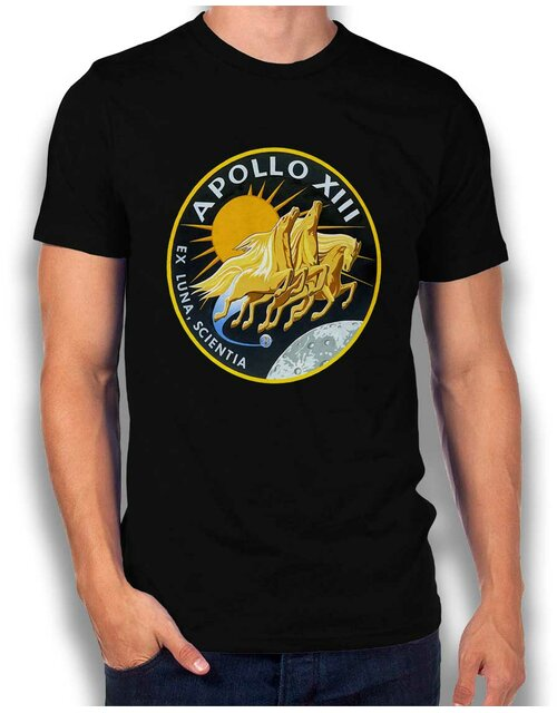 Apollo 13 Logo T-Shirt schwarz L