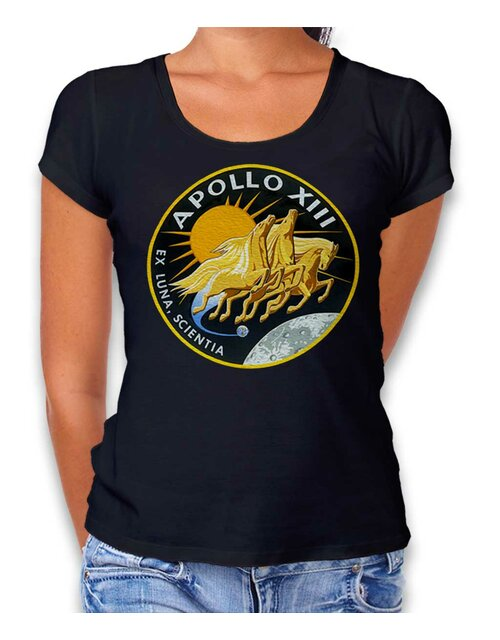 Apollo 13 Logo Damen T-Shirt schwarz L