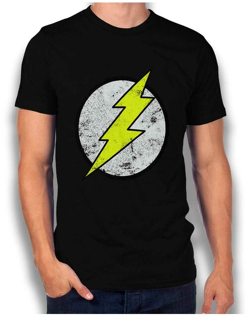 Flash Logo Vintage T-Shirt schwarz L