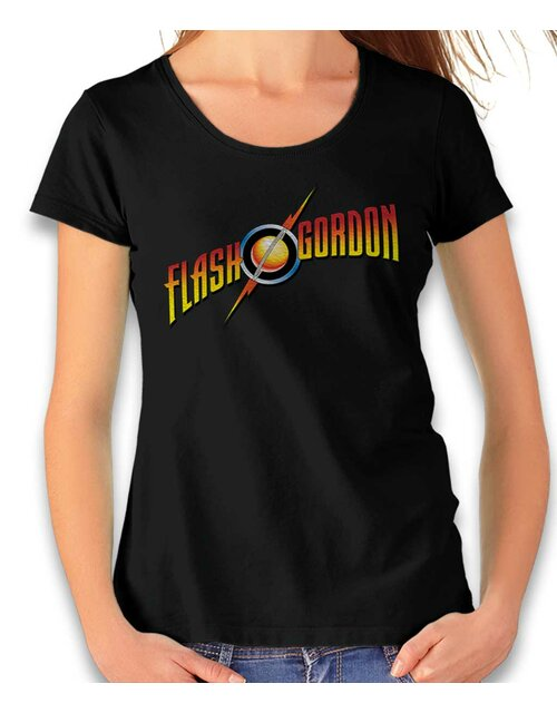 Flash Gordon Damen T-Shirt schwarz L