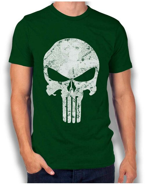 Punisher Vintage Skull T-Shirt dark-green L