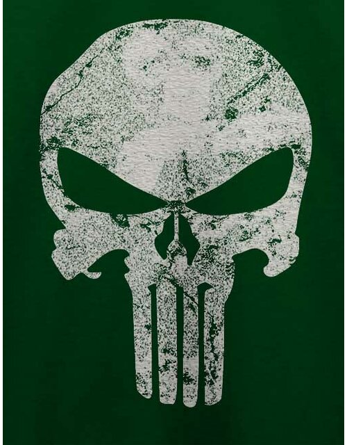 Punisher Vintage Skull T-Shirt dunkelgruen L