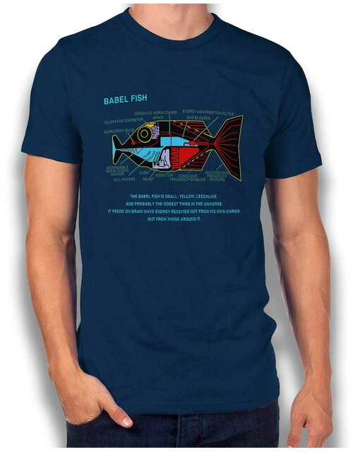 Babel Fish T-Shirt dunkelblau L