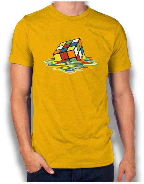 Sheldons Cube T-Shirt yellow L