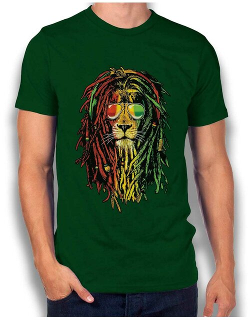 Rasta Lion T-Shirt dark-green L