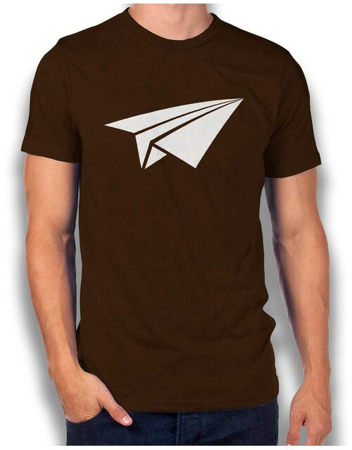 Papierflieger T-Shirt brown L