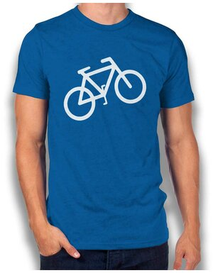 Fahrrad Wheelie T-Shirt royal L