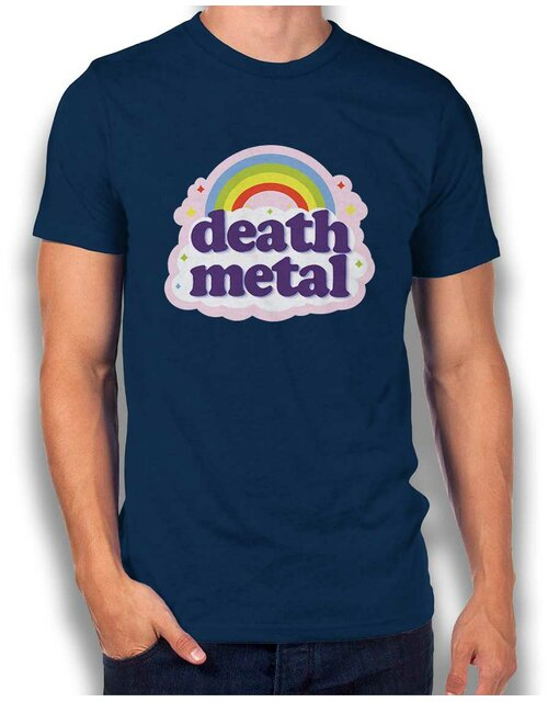 Death Metal Rainbow T-Shirt navy L