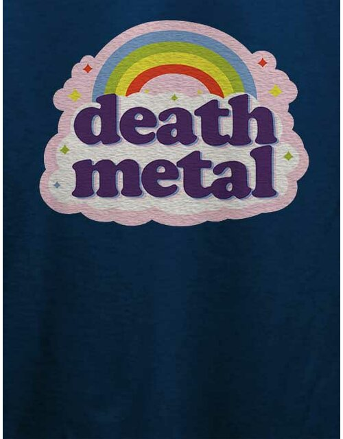 Death Metal Rainbow T-Shirt dunkelblau L