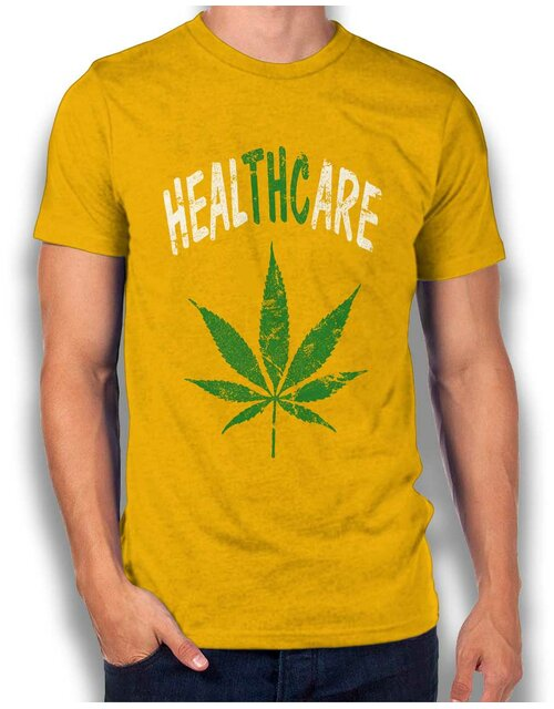 Cannabis Healthcare T-Shirt gelb L