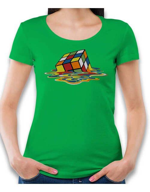 Sheldons Cube Womens T-Shirt green L