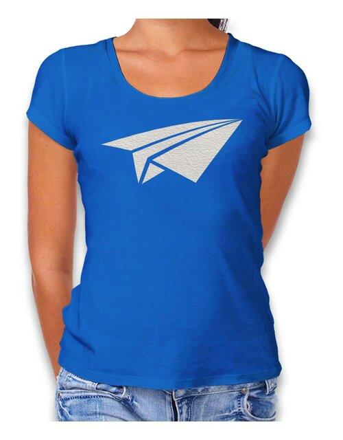 1bb96fc86806 Papierflieger Womens T-Shirt royal-blue L ...