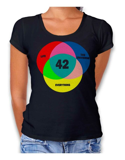 42 Life The Universe Everything Damen T-Shirt schwarz L