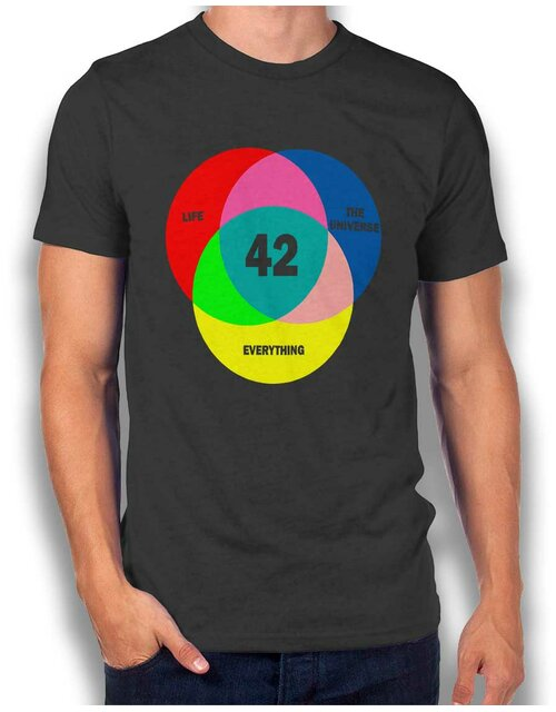 42 Life The Universe Everything T-Shirt dark-gray L