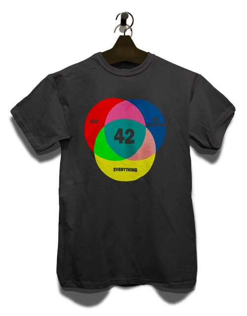 42 Life The Universe Everything T-Shirt dunkelgrau L